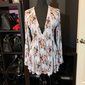 Free People Floral Tunic - Large